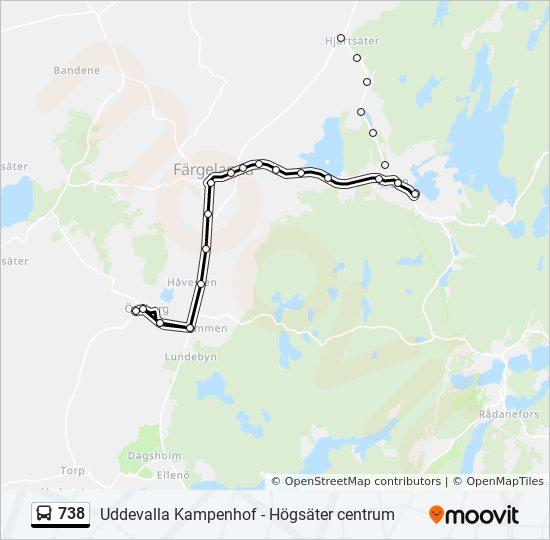 738 Rutt Tidsschema Stopp Kartor Odeborgs Kyrka