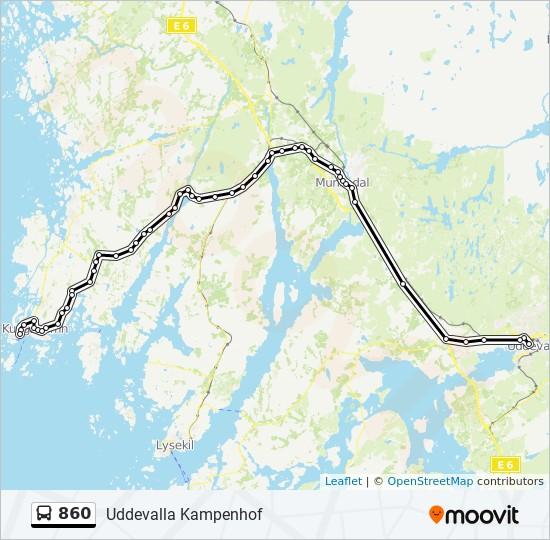 göteborg smögen karta 860 Rutt: Tidsschema, Stopp & Kartor göteborg smögen karta