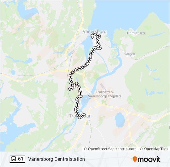 Karta Vanersborg.61 Rutt Tidsschema Stopp Kartor Vanersborg Centralstation