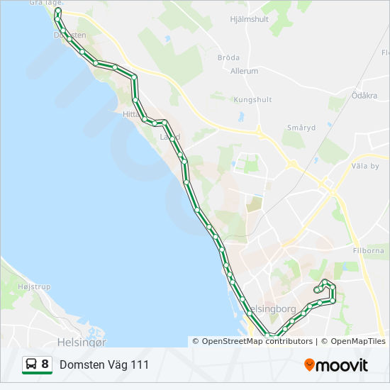 8 Route: Time Schedules, Stops & Maps - Malmö Lindängen