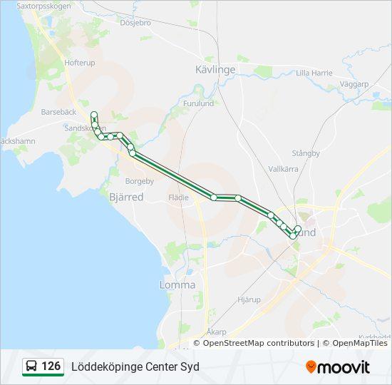 karta över löddeköpinge 126 Rutt: Tidsschema, Stopp & Kartor karta över löddeköpinge