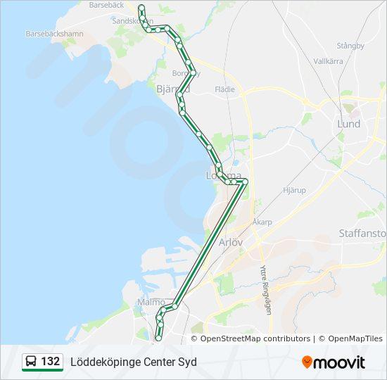 karta över löddeköpinge 132 Rutt: Tidsschema, Stopp & Kartor karta över löddeköpinge