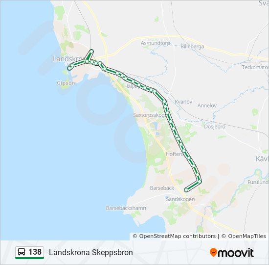 138 Rutt Tidsschema Stopp Kartor Landskrona Skeppsbron