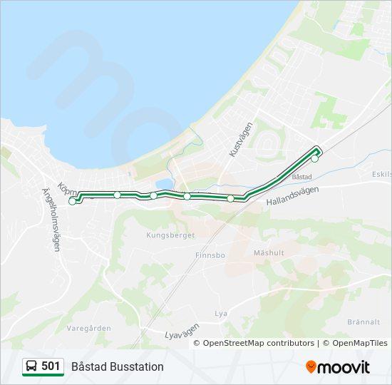 Bastad Station Karta.501 Rutt Tidsschema Stopp Kartor Bastad Busstation