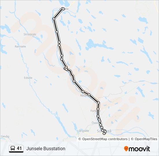 Junsele Karta Sverige.41 Rutt Tidsschema Stopp Kartor Junsele Busstation