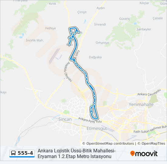555 4 Route Time Schedules Stops Maps Ankara Lojistik Ussu