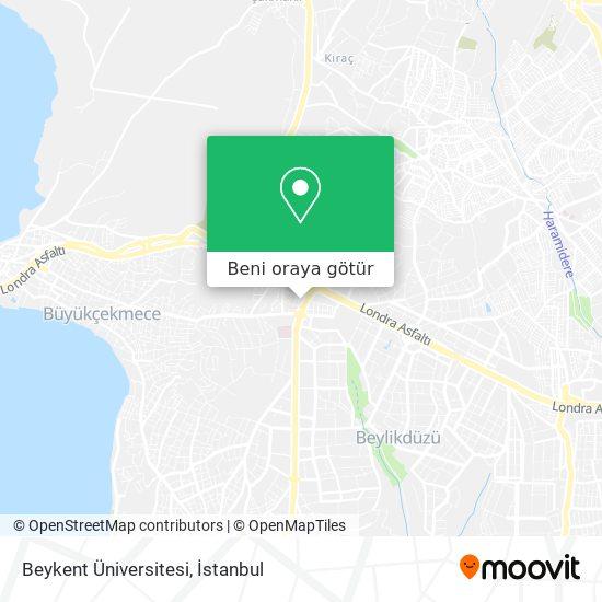 Beykent Üniversitesi harita