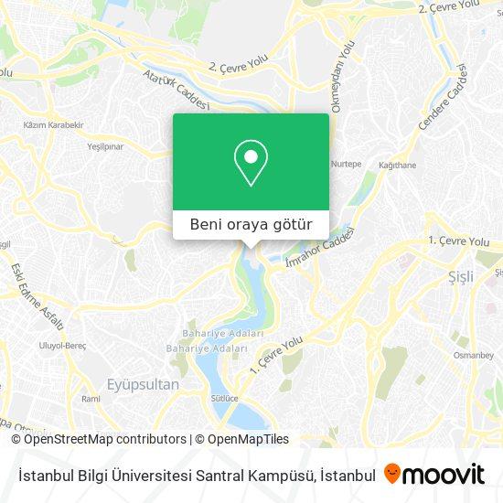İstanbul Bilgi Üniversitesi Santral Kampüsü harita