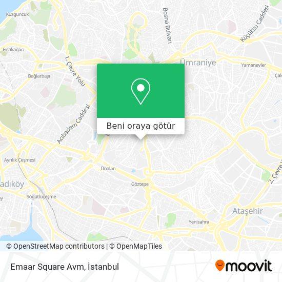 Emaar Square Avm harita