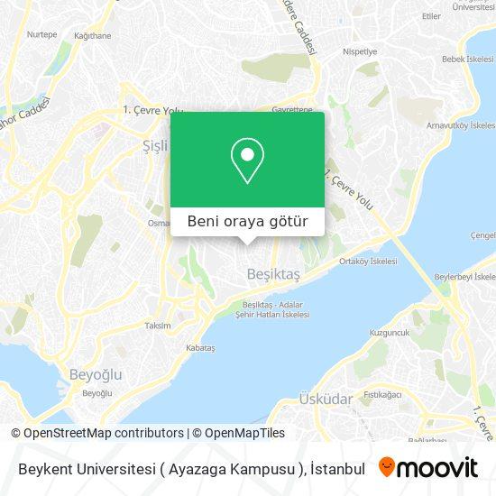 Beykent Universitesi ( Ayazaga Kampusu ) harita