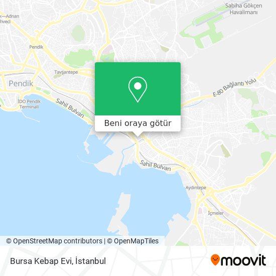 Bursa Kebap Evi harita