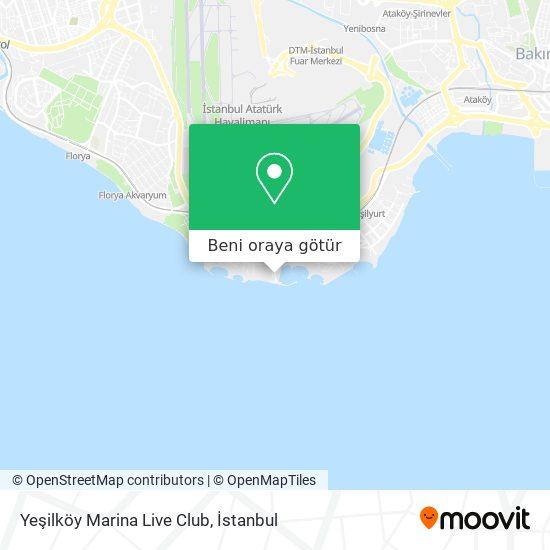 Yeşilköy Marina Live Club harita