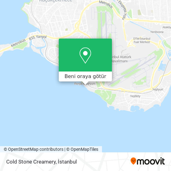 Cold Stone Creamery harita