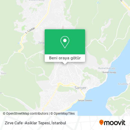 Zirve Cafe -Asiklar Tepesi harita