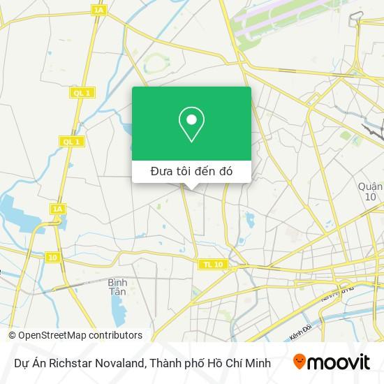 Bản đồ Dự Án Richstar Novaland