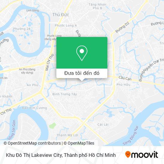 Bản đồ Khu Đô Thị Lake View City