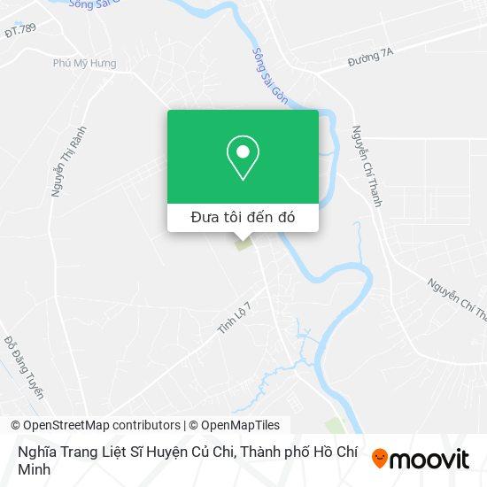 Bản đồ Nghĩa Trang Liệt Sĩ Huyện Củ Chi