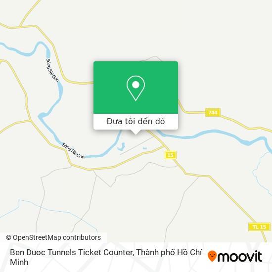 Bản đồ Ben Duoc Tunnels Ticket Counter
