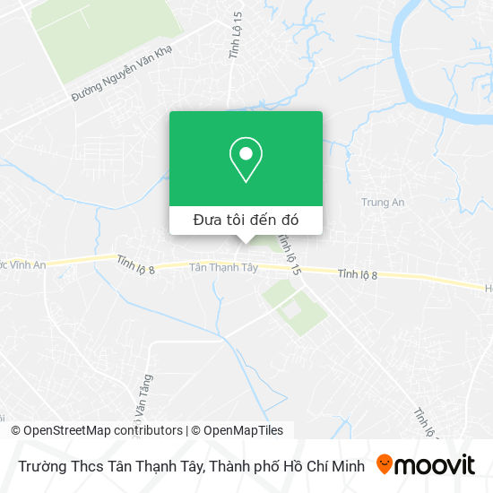 Bản đồ Trường Thcs Tân Thạnh Tây