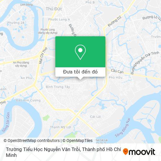 Bản đồ Trường Tiểu Học Nguyễn Văn Trỗi