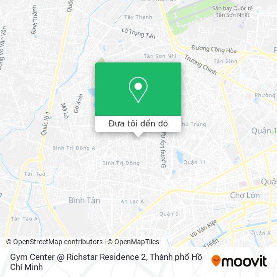 Bản đồ Gym Center @ Richstar Residence 2
