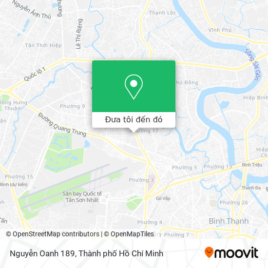 Bản đồ Nguyễn Oanh 189