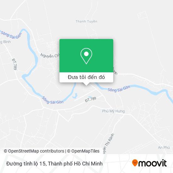 Bản đồ Đường tỉnh lộ 15