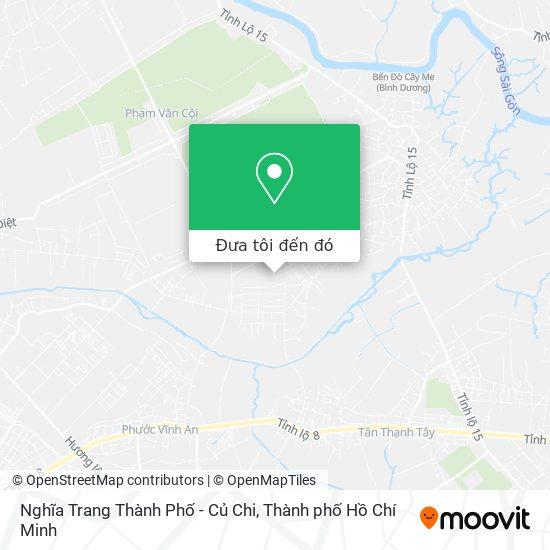 Bản đồ Nghĩa Trang Thành Phố - Củ Chi