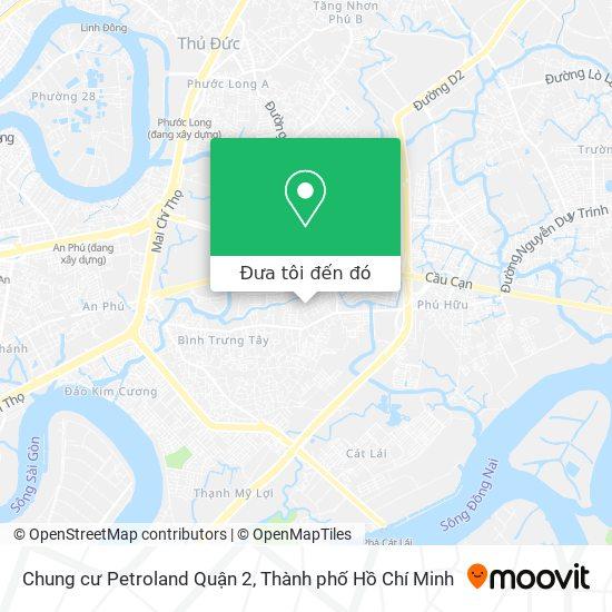 Bản đồ Chung cư Petroland Quận 2