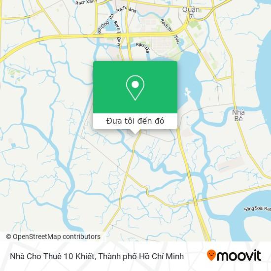 Bản đồ Nhà Cho Thuê 10 Khiết