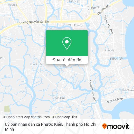 Bản đồ Uỷ ban nhân dân xã Phước Kiển