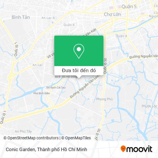 Bản đồ Conic Garden