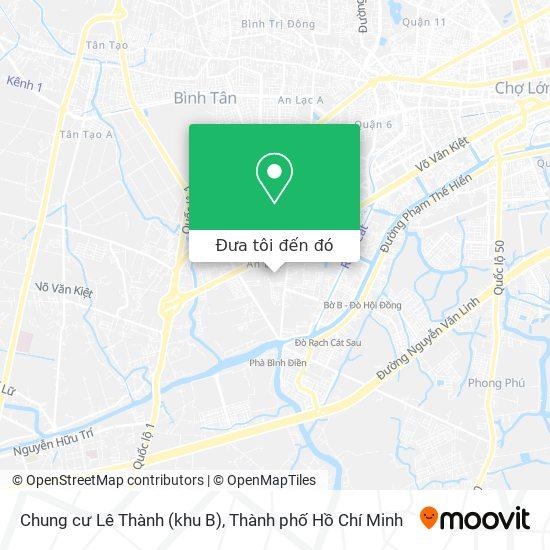 Bản đồ Chung cư Lê Thành (khu B)