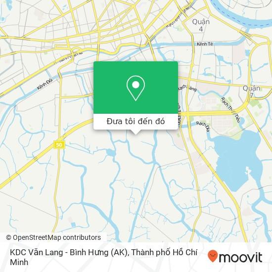 Bản đồ KDC Văn Lang - Bình Hưng (AK)