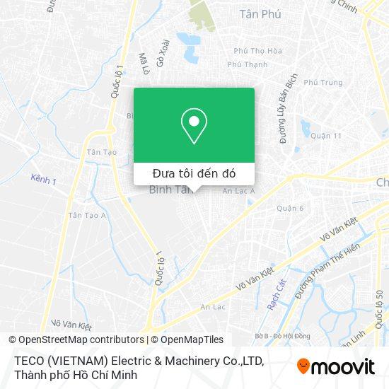 Bản đồ TECO (VIETNAM) Electric & Machinery Co.,LTD