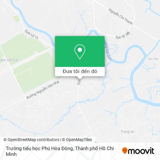 Bản đồ Trường tiểu học Phú Hòa Đông
