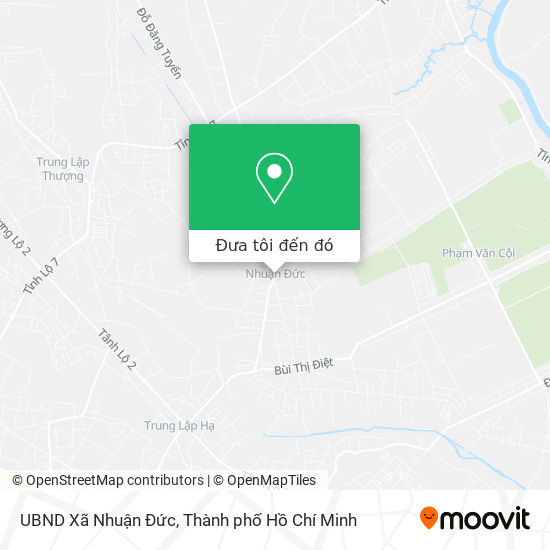 Bản đồ UBND Xã Nhuận Đức