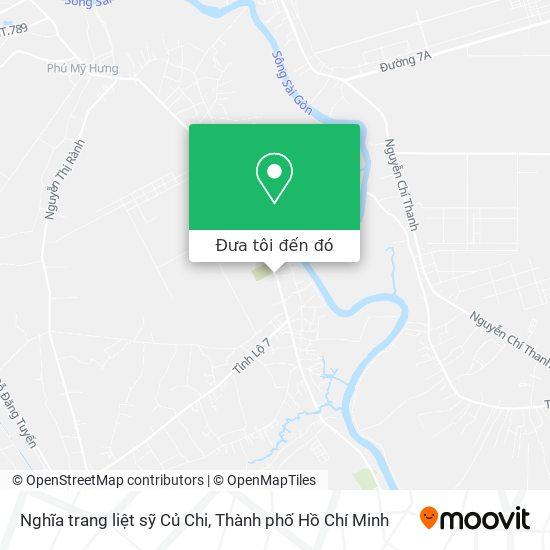 Bản đồ Nghĩa trang liệt sỹ Củ Chi