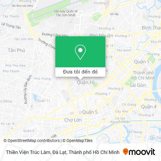 Bản đồ Thiền Viện Trúc Lâm, Đà Lạt