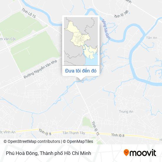 Bản đồ Phú Hoà Đông