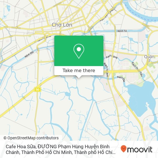 Bản đồ Cafe Hoa Sữa, ĐƯỜNG Phạm Hùng Huyện Bình Chánh, Thành Phố Hồ Chí Minh