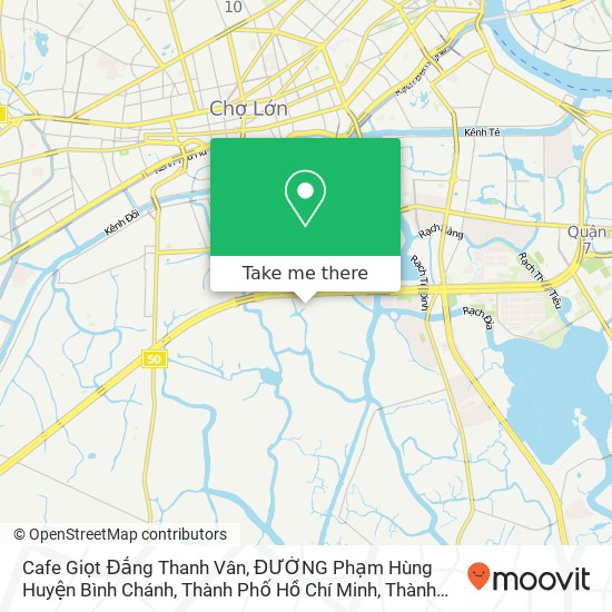 Bản đồ Cafe Giọt Đắng Thanh Vân, ĐƯỜNG Phạm Hùng Huyện Bình Chánh, Thành Phố Hồ Chí Minh