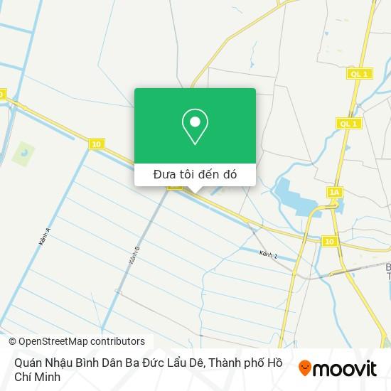 Bản đồ Quán Nhậu Bình Dân Ba Đức Lẩu Dê