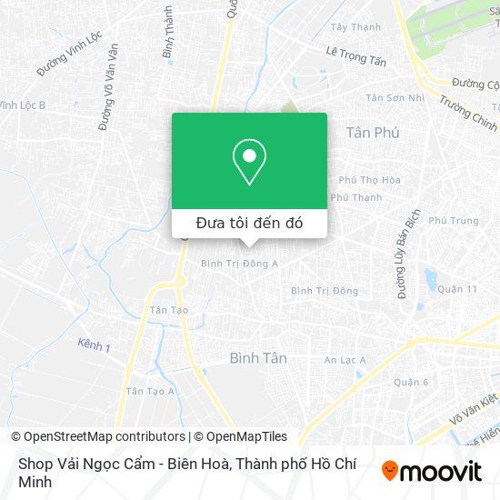 Bản đồ Shop Vải Ngọc Cẩm - Biên Hoà