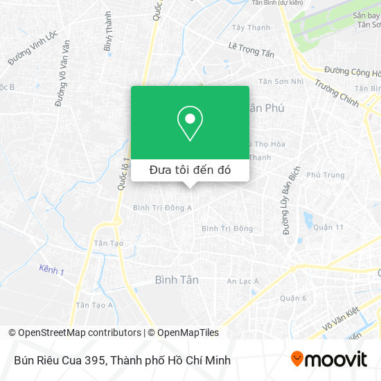 Bản đồ Bún Riêu Cua 395