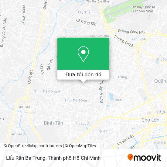 Bản đồ Lẩu Rắn Ba Trung