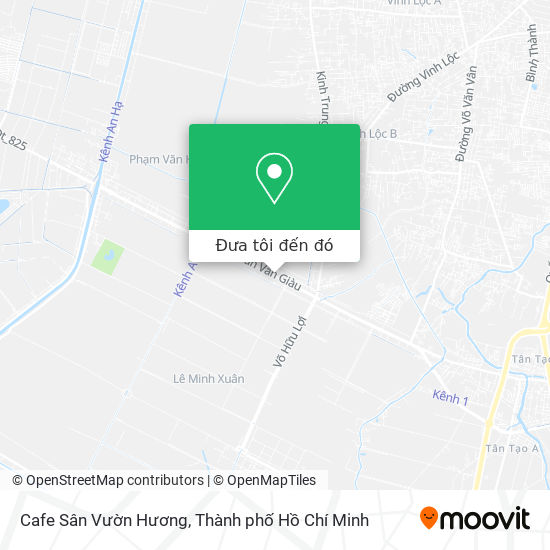 Bản đồ Cafe Sân Vườn Hương