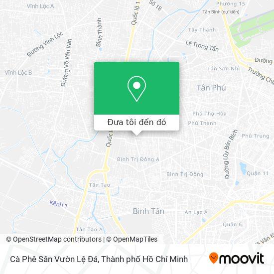 Bản đồ Cà Phê Sân Vườn Lệ Đá