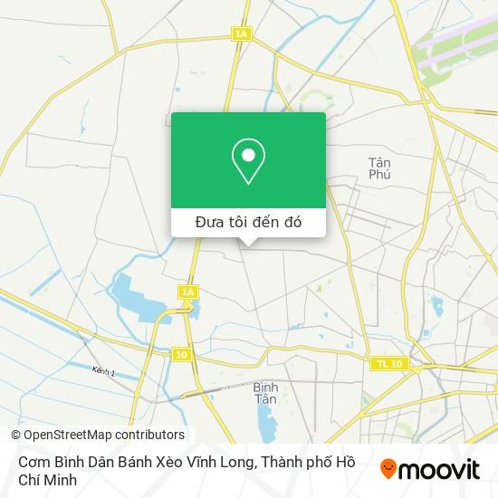 Bản đồ Cơm Bình Dân Bánh Xèo Vĩnh Long