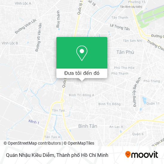 Bản đồ Quán Nhậu Kiều Diễm